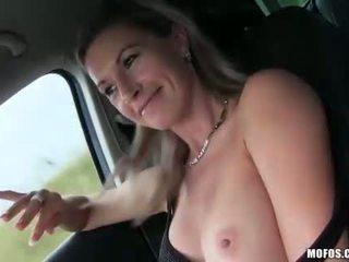 Big fake tits Alena pounded by stranger