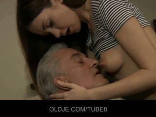 Old man blows young göt and kiçijek amjagaz