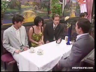 Rita Cardinale, Gangbang and Bukkake in the Restaurant