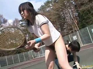 Giapponese av modella scopata