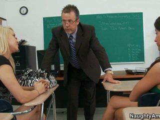 Γριά δάσκαλος examing lizz και tegan