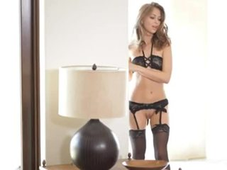 Riley Reid in black lingerie