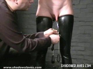 Gimp masked slavegirl cherry torn tortured ja mercilessly nahutamine kohta blond ameerika fetiš postri peal sisse sidumine, hooter torments ja x kõlblik sadism