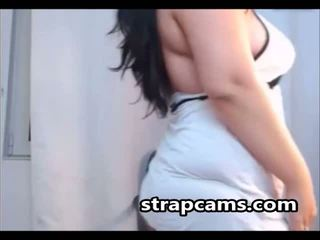 Busty amateur teen undressing on webcam