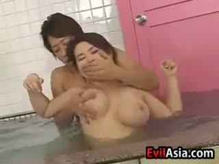 japanese, group sex, shower