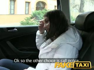 Faketaxi сладурана руски туристически с а хубав стегнат путка