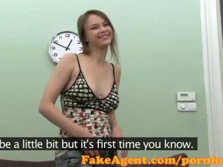 FakeAgent HD Shy girl hairy bush