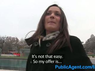 PublicAgent Beautiful brunette has sex for cash - Porn Video 151
