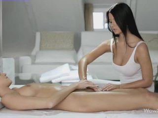 Лесбіянка секс з silvie і addison