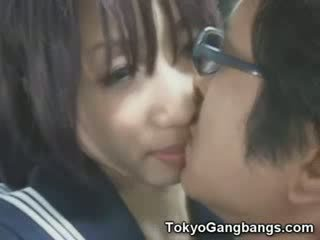Naive babe in Tokyo Bus!