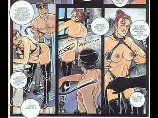 Träldomen, herravälde, sadistiska, masochismen kön vuxen erotiska comics