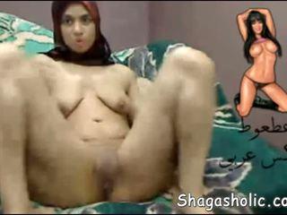 Arab Girl Masturbates On Web Cam