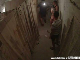 Shocking shots от eastern европейски underground brothel