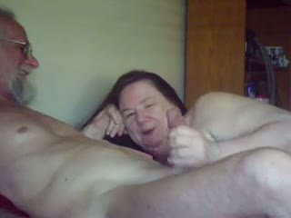 Old Gal Sucks & Plays with Old Guy, Free Porn 5b