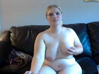 Apkūnu žmona gets spanked ir masturbates apie internetinė kamera