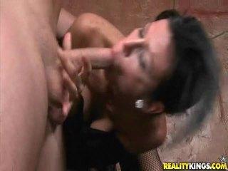 brunette, hardcore sex, sucking