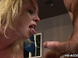 oral seks, derin boğaz, sarışın
