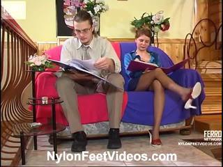 Alice và mike nóng nylon chân video
