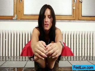 bruneta, hardcore sex, foot fetish