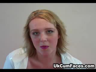 Ginger UK girl eager for cum in her face