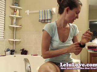 Lelu Love-WEBCAM: Oiling Up Then Bathtub Masturbation