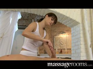 Big natural breasts and small hands satisfy cock