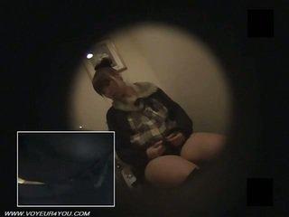 Japanska kontors damer toalett masturbate