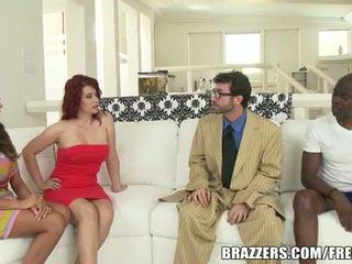 brunette, group fuck, nice ass