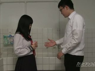 Innocent school girl gives blowjobs and hand jobs for extra credit