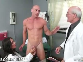 Beautiful doctor's assistant Destiny Dixon fucks her hung patient