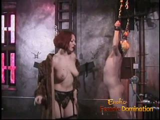 Naughty Blonde Stud Likes Being Whipped by a Smoking Hot