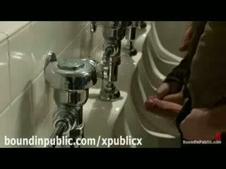 Group of gays in public toilets Handjobs and Blowjobs