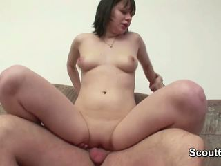 German Mom seduce to fuck by not czech Step-son