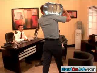 Hot homo office Three Some 3 by HardOnJob
