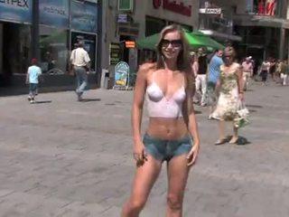 Susanna Spears Body-Art Naked girl in public