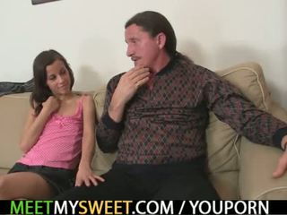 Ona seduces oče in mati v pravo v trojček