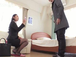 Reiko kobayakawa 挑逗 比 邊工作 混蛋 他媽的