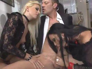 Hardcore anal threesome with big dick ...