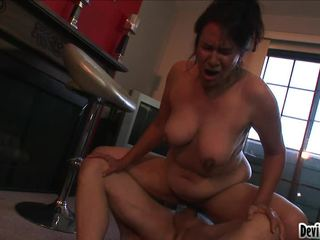 Nasty GrAnny Goes On Top Of A Good Hard Shlong & Pumps It Well