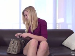 Pretty sexy blonde Alexa Grace stars for a hot casting couch episode