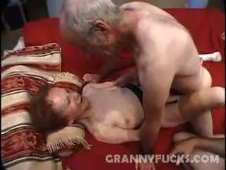 babička, cumshot, trojice