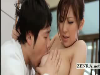 Nagy titty japán sultress harumi asano has dinnyék suckled