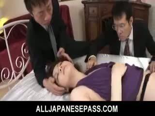 Rina koizumi горещ азиатки модел в секси чорапогащи gets прецака