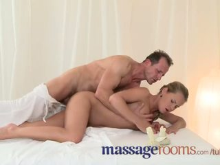 Massage Rooms Starlet Zuzana Z has her hole oiled before taking hard cock