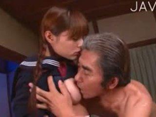 giapponese, vecchio + giovane, uniforme