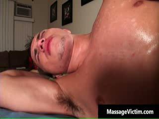 Brice gets his cutie butt homo massaged