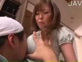 اليابانية, كبير الثدي, لعق