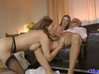 threesome, old + muda, hd porn