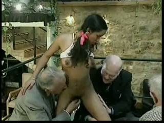gruppe sex, gammel + young, interracial