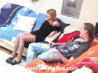 Alice و mike sleaze جوارب footsex